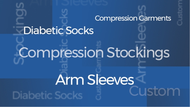 Compression Stocking & Garments Word Cloud