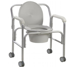 Chaise d'aisance à roulettes