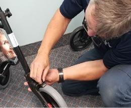 Réparation de déambulateurs