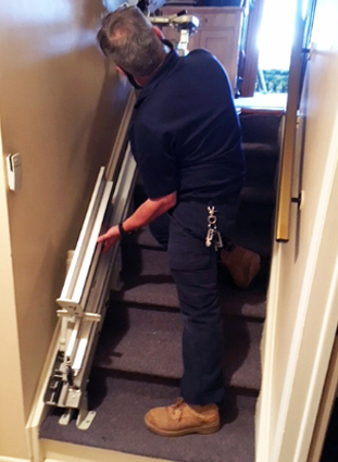 Stair lift installations and repairs