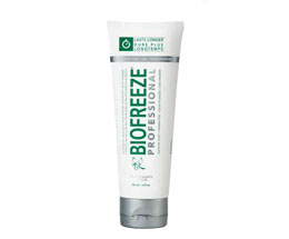 White tube of Biofreeze