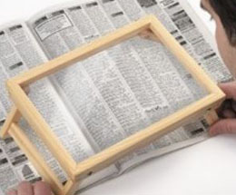 Page Magnifier over a newspaper